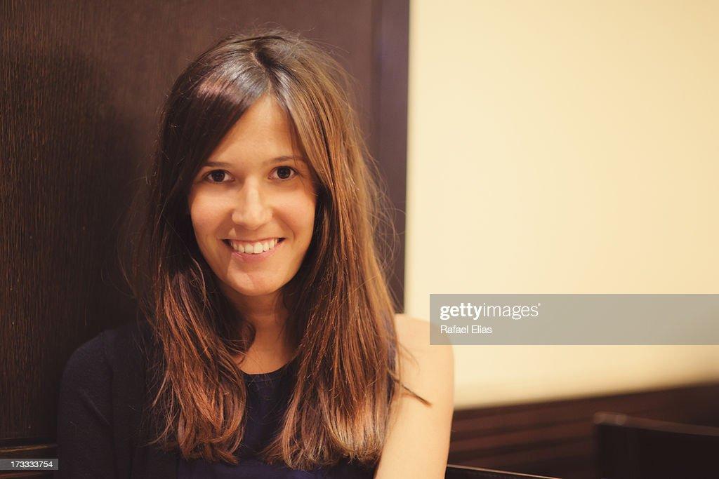 Attractive happy girl : Stock Photo