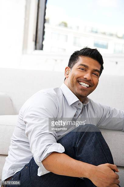 Attractive Man Relaxing At Home