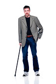 Attractive Man with Cane
