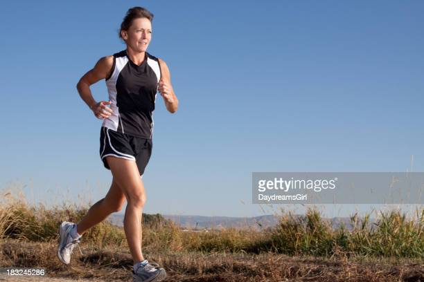 Attractive Mature Woman Running Outdoors