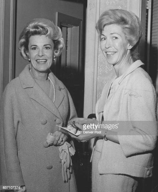 Attractive members of Debutante Ball's patron committee are Mrs Lewis Hayden left and Mrs Jack Manning Credit Denver Post