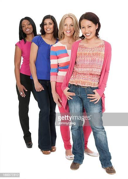 Hübsche Multi ethnischen Frauen-isoliert