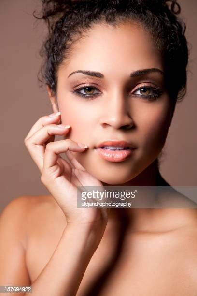 Attractive natural beauty portrait of an ethnic woman