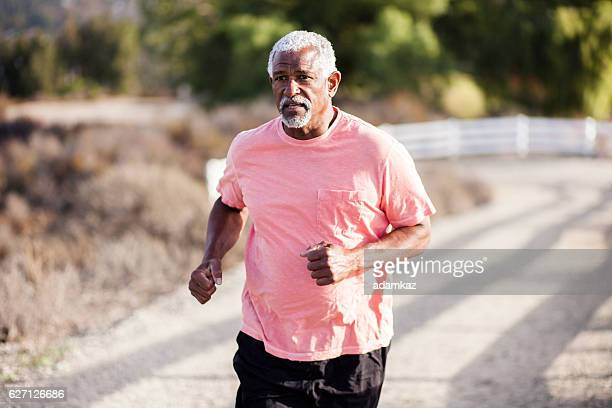Attractive Senior Man Jogging