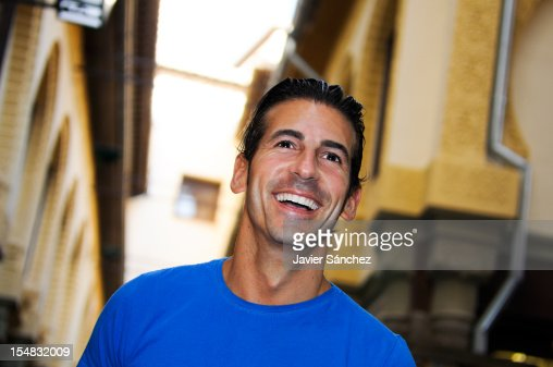 Attractive smiling man in urban background