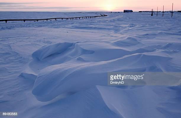 Attractive snowdrift.