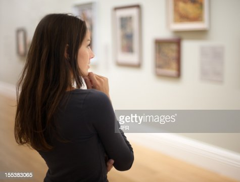 Attractive Woman in an Art Gallery (XXXL)