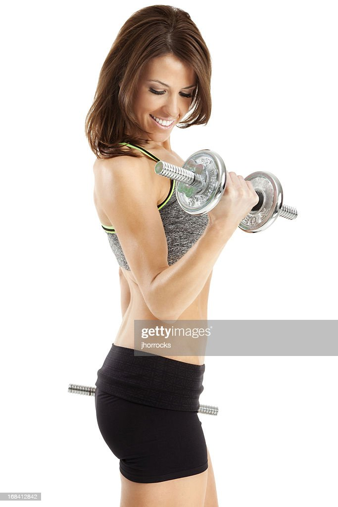 Attractive Woman Lifting Weights