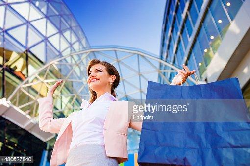 Attraktive junge Geschäftsfrau : Stock-Foto