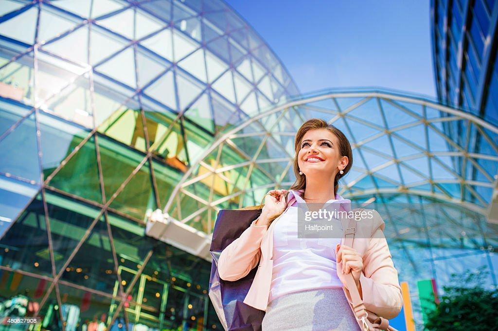 Attraente giovane donna d'affari : Foto stock