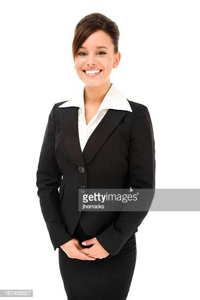 Attraktive junge Geschäftsfrau