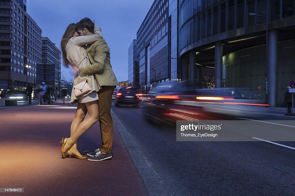 Attractive Young Couple on Potsdamer Platz Berlin