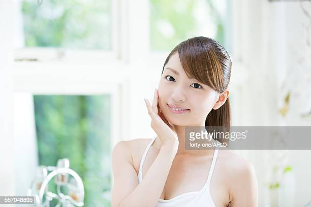 Attractive young girl portrait