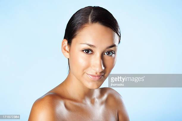 Attractive Young Hispanic Woman with Perfect Complexion