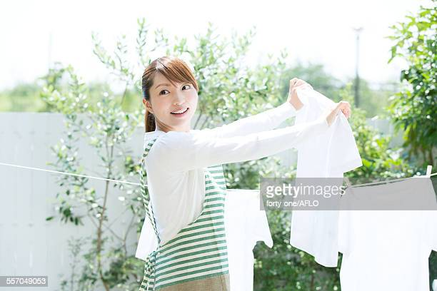 Attractive young housewife