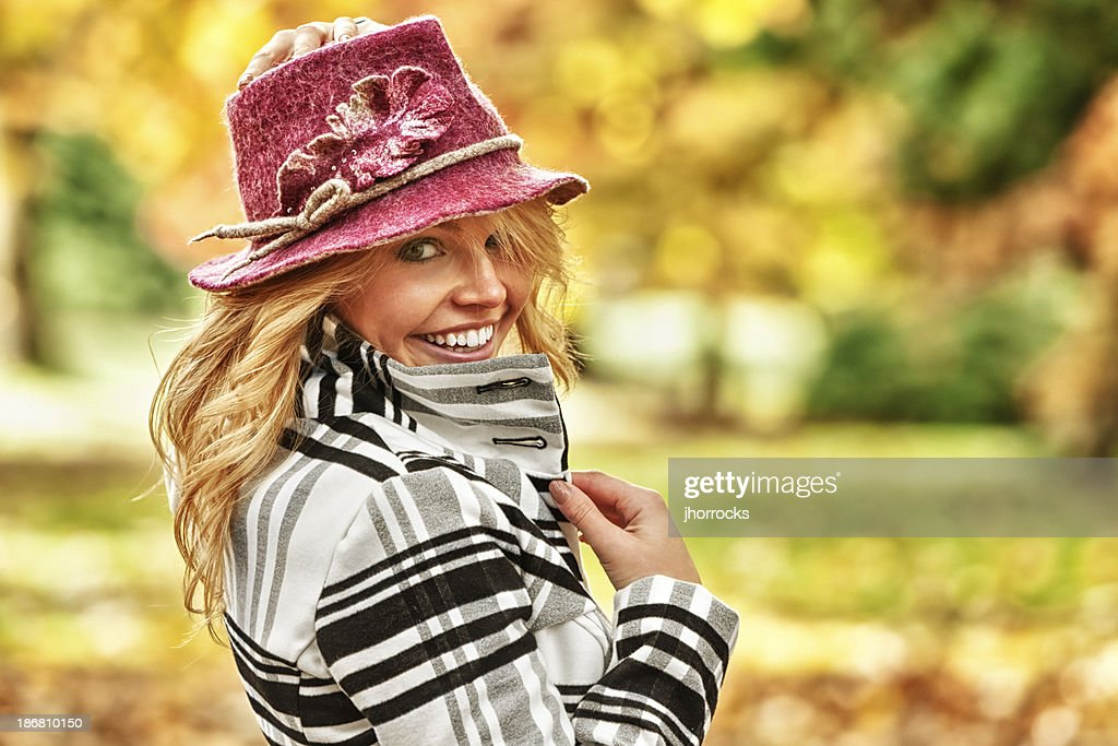 Attractive Young Woman in Fall Fashion