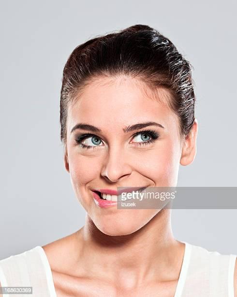 Attractive young woman, Studio Portrait