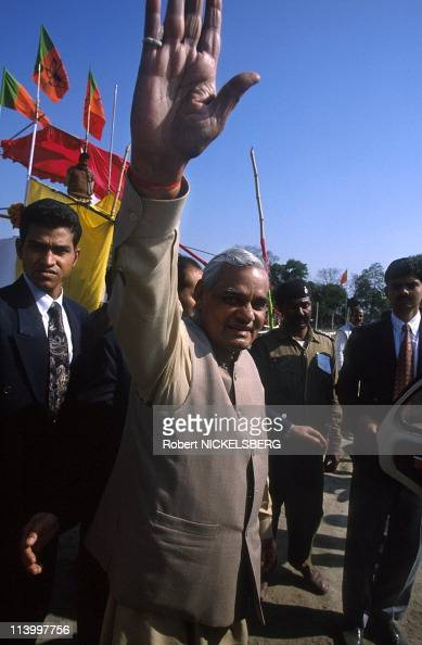 Atul Bihari Vajpayee BJP leader In India On February 07 1998