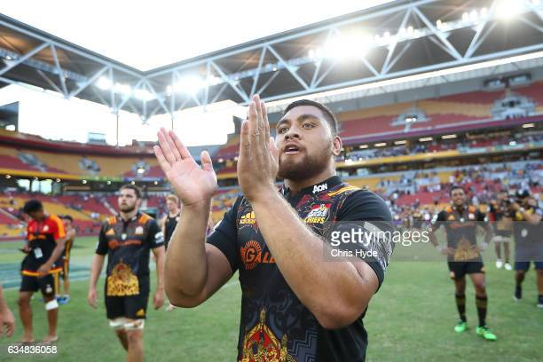 Atunaisa Moli of the Chiefs celebrates winning the Rugby Global Tens Final match between Chiefs and Crusaders at Suncorp Stadium on February 12 2017...