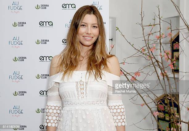 Au Fudge CoOwner Jessica Biel attends EMA Sierra Club present 'Ready For 100 Green Leaders' at Au Fudge on February 16 2016 in West Hollywood...