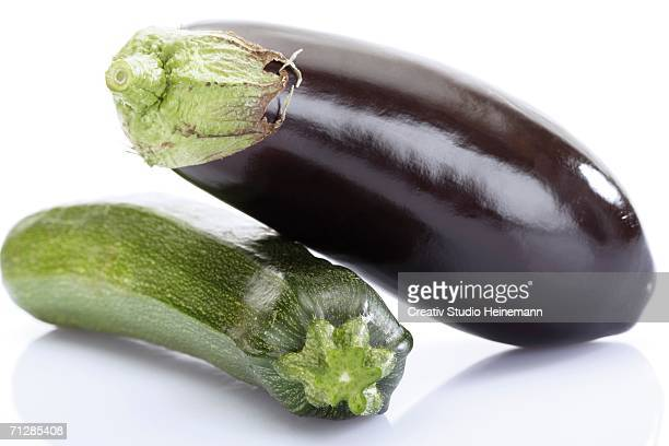 Aubergine and zucchini