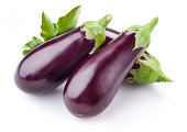 Aubergine isolated on white