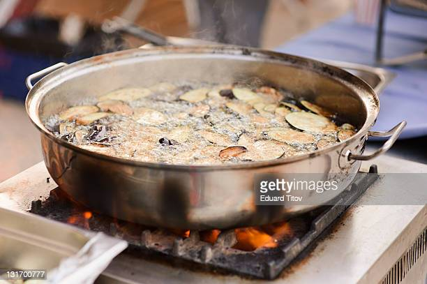 Aubergine with oil