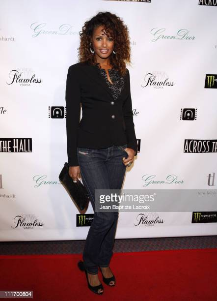 KD Aubert attends 'Across The Hall' Los Angeles Premiere at Laemmle's Music Hall 3 on December 1 2009 in Beverly Hills California