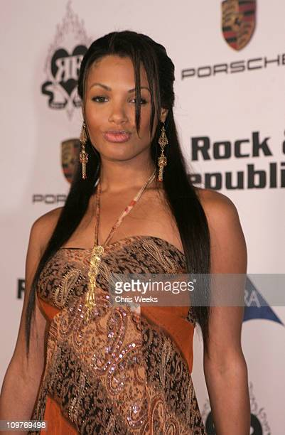 KD Aubert during Rock Republic 'Love Rocks' Fashion Show Spring 2006 White Carpet at Sony Pictures Studios in Culver City California United States