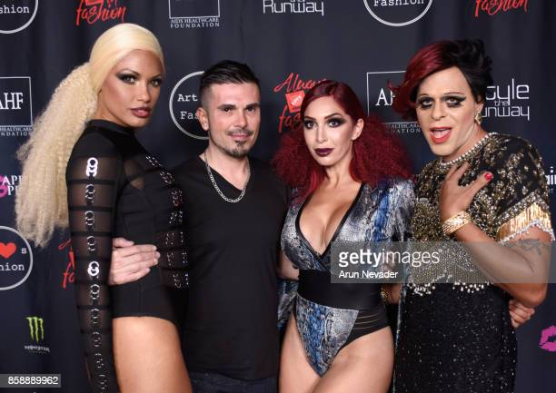 K D Aubert Erik Rosete Farrah Abraham and Sham Ibrahim at Los Angeles Fashion Week SS18 Art Hearts Fashion LAFW on October 7 2017 in Los Angeles...