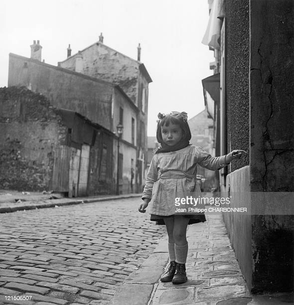 Aubervilliers 1952 Child Playing In The Street