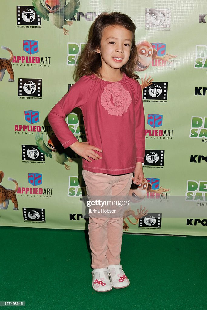 Aubrey Anderson Emmons attends the Delhi Safari Los Angeles premiere at Pacific Theatre at The Grove on December 3, 2012 in Los Angeles, California.