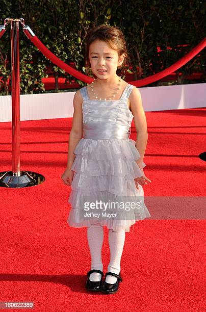 Aubrey AndersonEmmons arrives at the 19th Annual Screen Actors Guild Awards at the Shrine Auditorium on January 27 2013 in Los Angeles California
