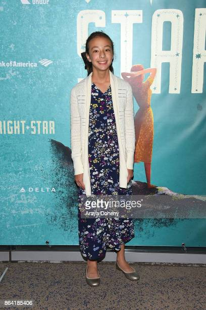 Aubrey AndersonEmmons attends the opening night of 'Bright Star' at Ahmanson Theatre on October 20 2017 in Los Angeles California