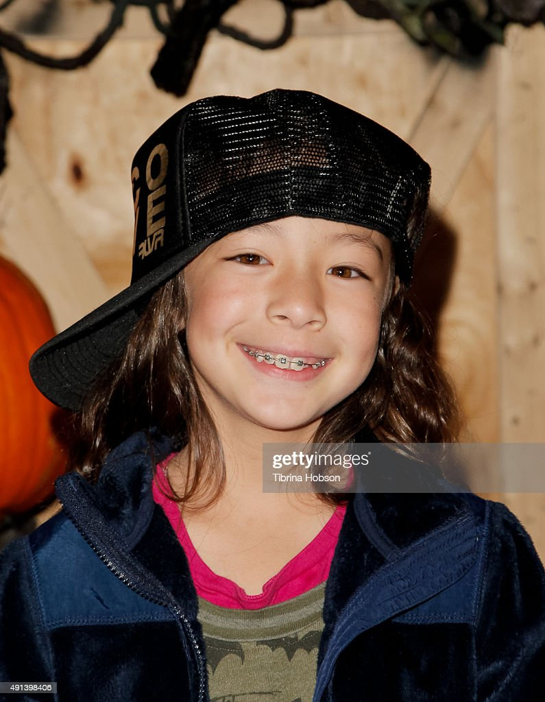 Aubrey AndersonEmmons attends the Rise of the Jack O' Lanterns 2nd annual VIP event at Descanso Gardens on October 4 2015 in La CanadaFlintridge...
