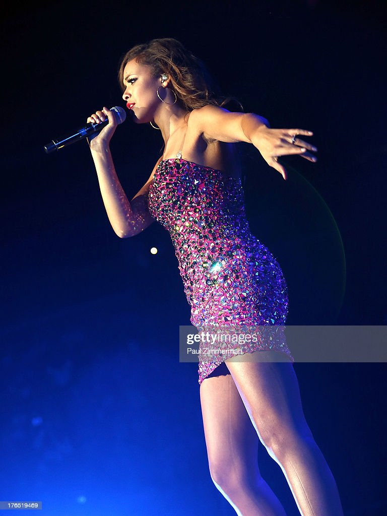 Aubrey Cleland performs during American Idol Live! 2013 at Prudential Center on August 14, 2013 in Newark, New Jersey.