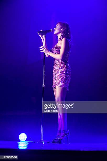 Aubrey Cleland performs during American Idol Live 2013 at UNO Lakefront Arena on July 30 2013 in New Orleans Louisiana