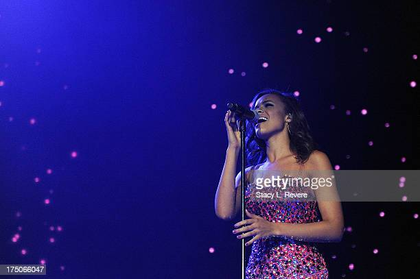 Aubrey Cleland performs during American Idol Live at the UNO Lakefront Arena on July 30 2013 in New Orleans Louisiana