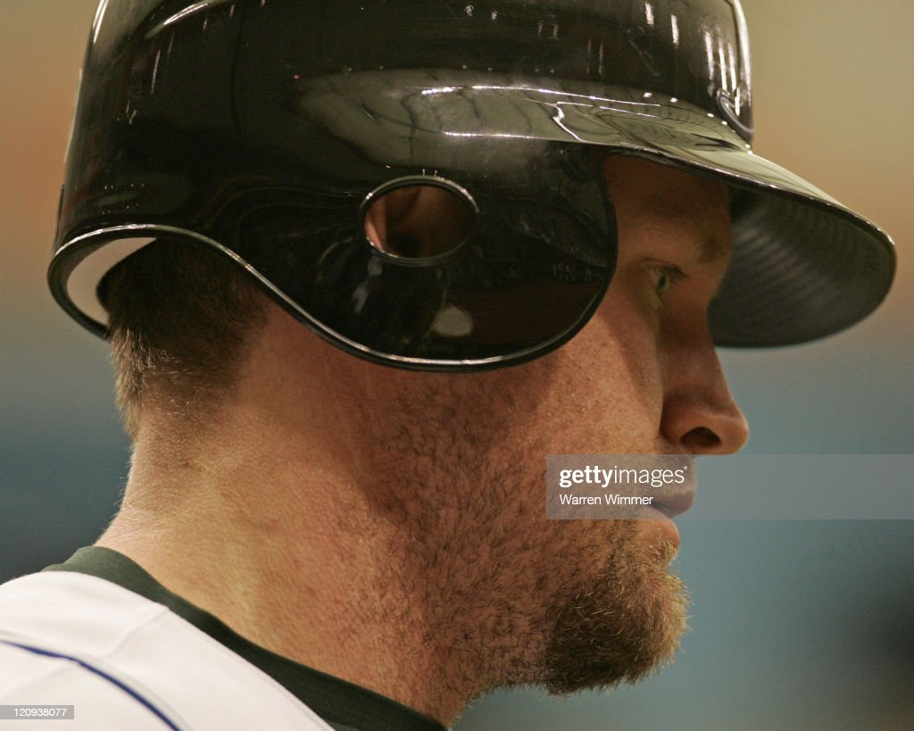<a gi-track='captionPersonalityLinkClicked' href=/galleries/search?phrase=Aubrey+Huff&family=editorial&specificpeople=208964 ng-click='$event.stopPropagation()'>Aubrey Huff</a> of the Devil Rays during game action at Tropicana Field, St Petersburg Florida, Sunday, June 25, 2006. The Atlanta Braves over the Devil Rays by a score of 4 to 1 in nine innings.