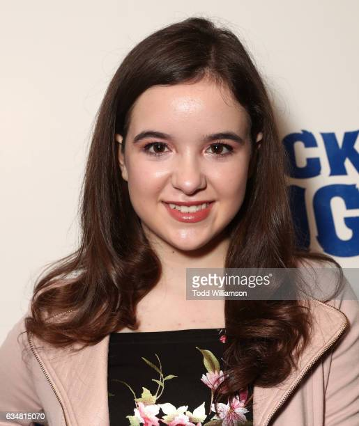 Aubrey Miller attends a special screening of 'Rock Dog' at Westside Pavilion on February 11 2017 in Los Angeles California