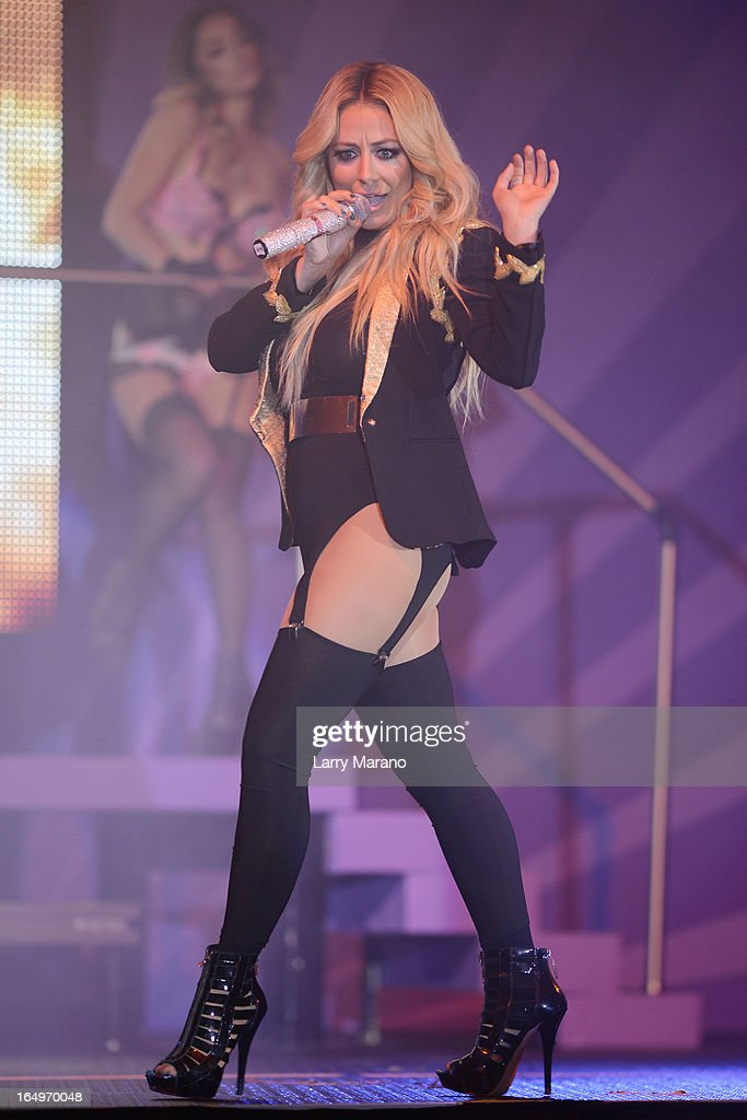 <a gi-track='captionPersonalityLinkClicked' href=/galleries/search?phrase=Aubrey+O%27Day&family=editorial&specificpeople=570062 ng-click='$event.stopPropagation()'>Aubrey O'Day</a> appears In The Knockouts Burlesque Show at Seminole Casino Coconut Creek on March 29, 2013 in Coconut Creek, Florida.