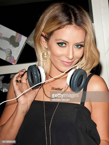 Aubrey O'Day attends Flips Audio Headphones Sponsors the Official Artist Gift Lounge Cumulus Radio Row At the American Music Awards Day 2 on November...