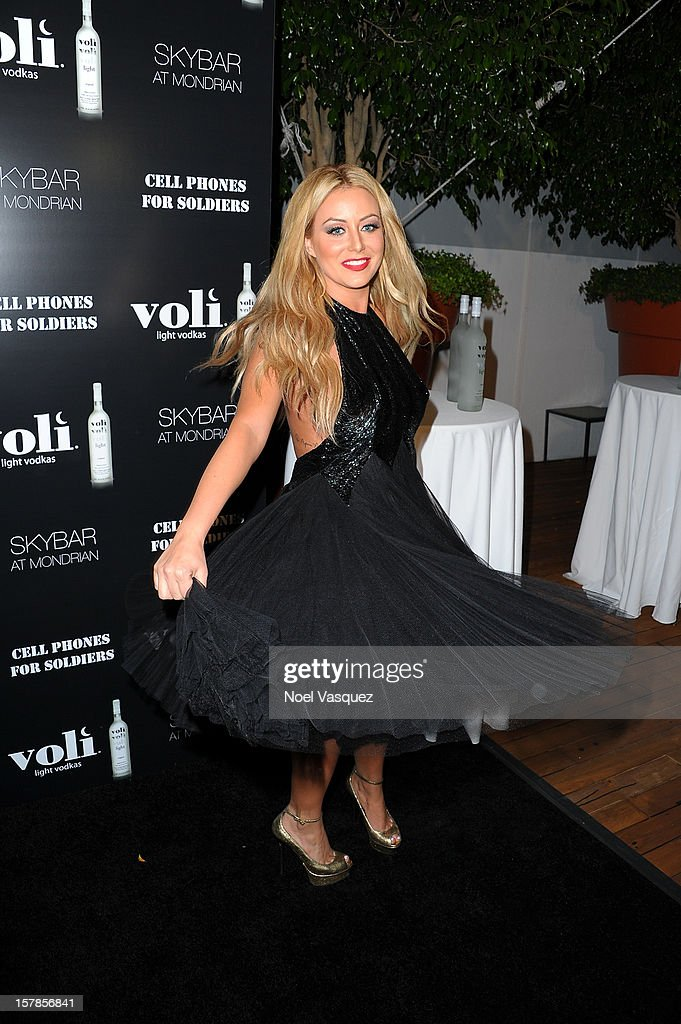 Aubrey O'Day attends the Voli Lights Vodka benefit at SkyBar at the Mondrian Los Angeles on December 6, 2012 in West Hollywood, California.