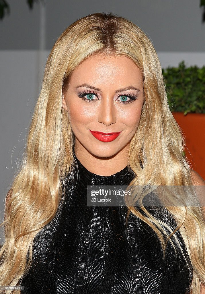 Aubrey O'Day attends the Voli Lights Vodka Benefit With Fergie at SkyBar at the Mondrian Los Angeles on December 6, 2012 in West Hollywood, California.