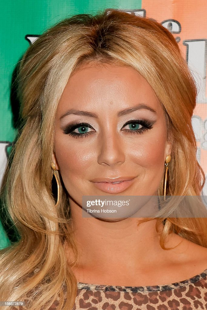 Aubrey O'Day attends the 'World Of Wonder' book release party at Universal Studios Backlot on December 13, 2012 in Universal City, California.