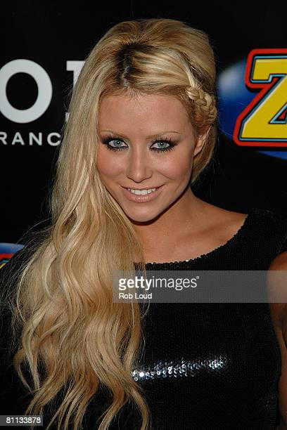 Aubrey ODay of Danity Kane poses in the press room during Z100's Zootopia at the IZOD Center on May 17 2008 in East Rutherford New Jersey