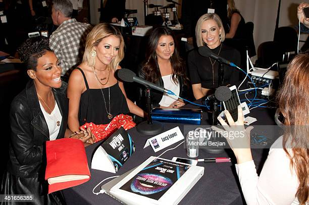 Aubrey O'Day Shannon Bex Dawn Richards and Andrea Fimbres of Danity Kane attend Flips Audio Headphones Sponsors the Official Artist Gift Lounge...