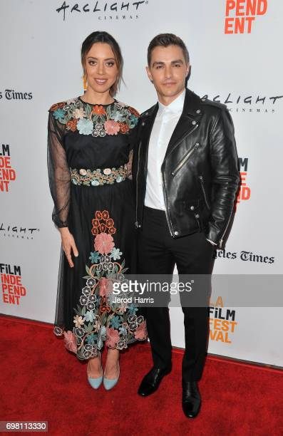 Aubrey Plaza and Dave Franco attend the screening of 'The Little Hours' during 2017 Los Angeles Film Festival at Arclight Cinemas Culver City on June...