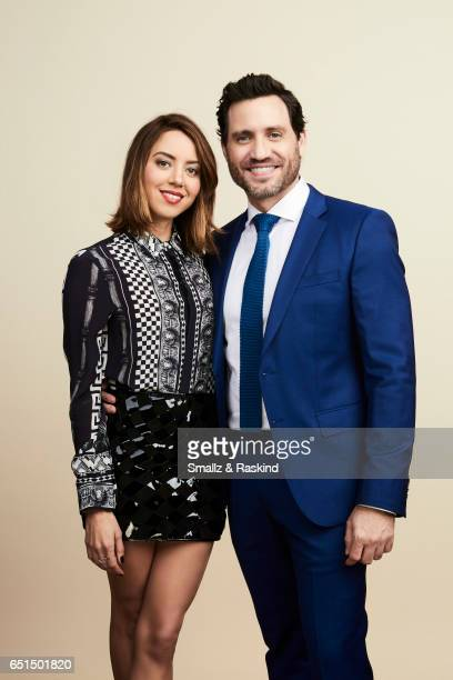 Aubrey Plaza and Edgar Ramirez pose for portrait session at the 2017 Film Independent Spirit Awards on February 25 2017 in Santa Monica California