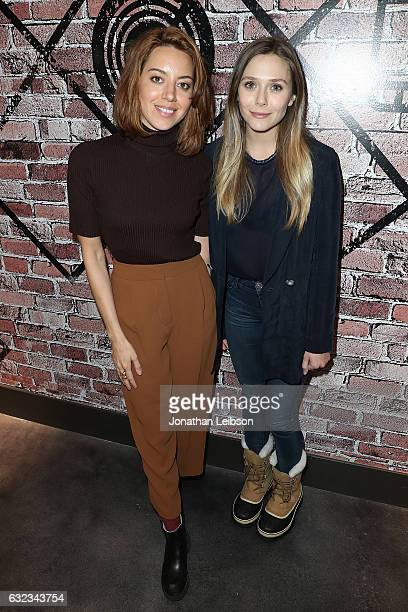 Aubrey Plaza and Elizabeth Olsen attends the Creators League Studio At 2017 Sundance Film Festival Day 3 on January 21 2017 in Park City Utah